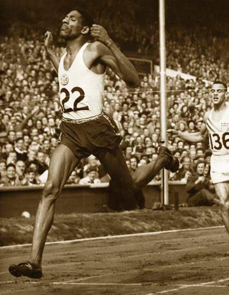 Jamaican sprint champion Arthur Wint in his heyday. OsmanPhotos.com / Alamy Stock Photo
