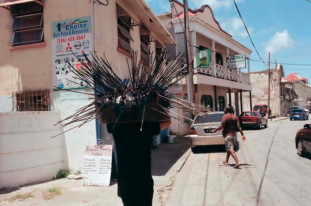Echidna (2016, performance, Speightstown, Barbados). Photo courtesy Adam Patterson