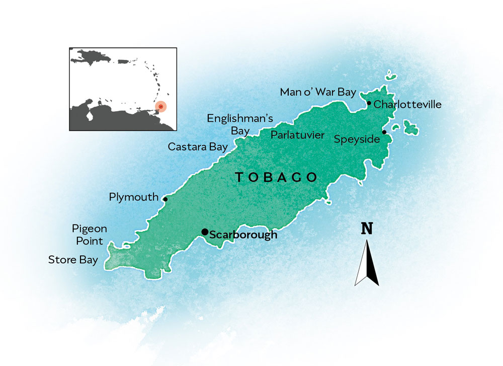 Tobago map