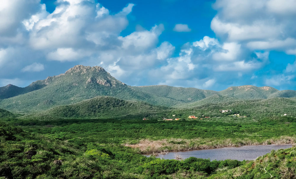 The literal high point of Christoffelpark is Curaçao's tallest peak, Christoffelberg. Photo by Gail Johnson/Shutterstock.com