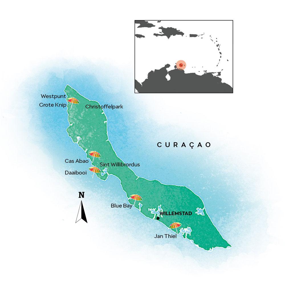 Curaçao map
