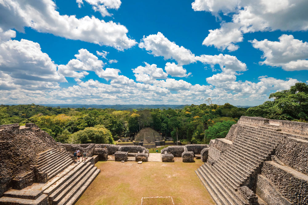 The view from the top of the Canaa pyramid at Caracol, a key Mayan site in Belize. Photo by Vetlana Bykova/Shutterstock.com