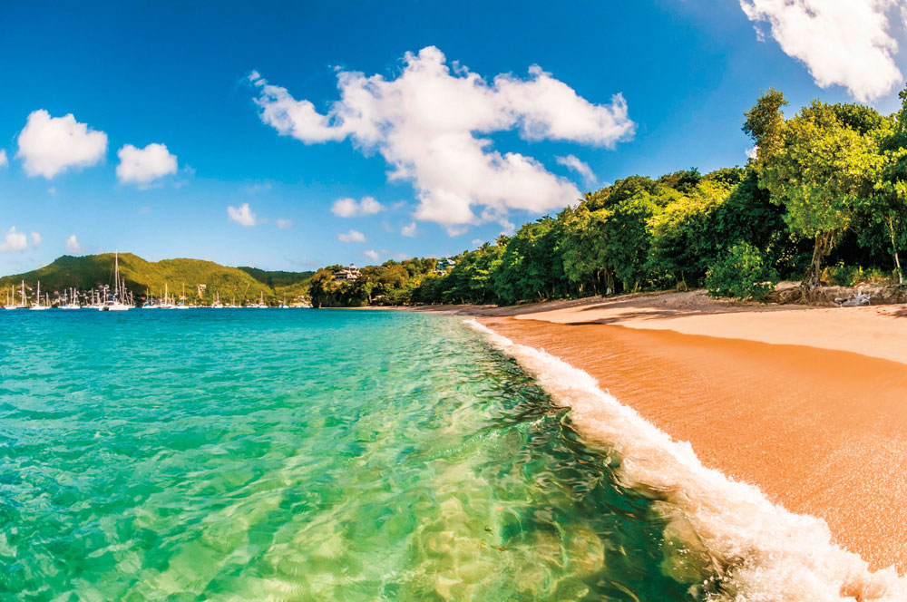The gorgeous expanse of Bequia's Princess Margaret Bay. Photo by Hemiis/Alamy Stock Photo
