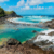 Volcanic rocks create a natural bathing spot at the Owia Salt Pond. Photo by Dmitri V Tonkopi/Shutterstock.com