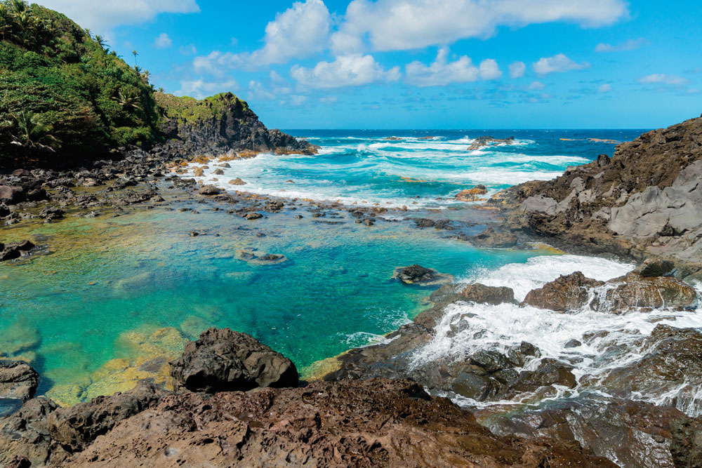 Enchanting Dark View Falls on St Vincent's leeward coast. Photo by mbrand85/Shutterstock.com