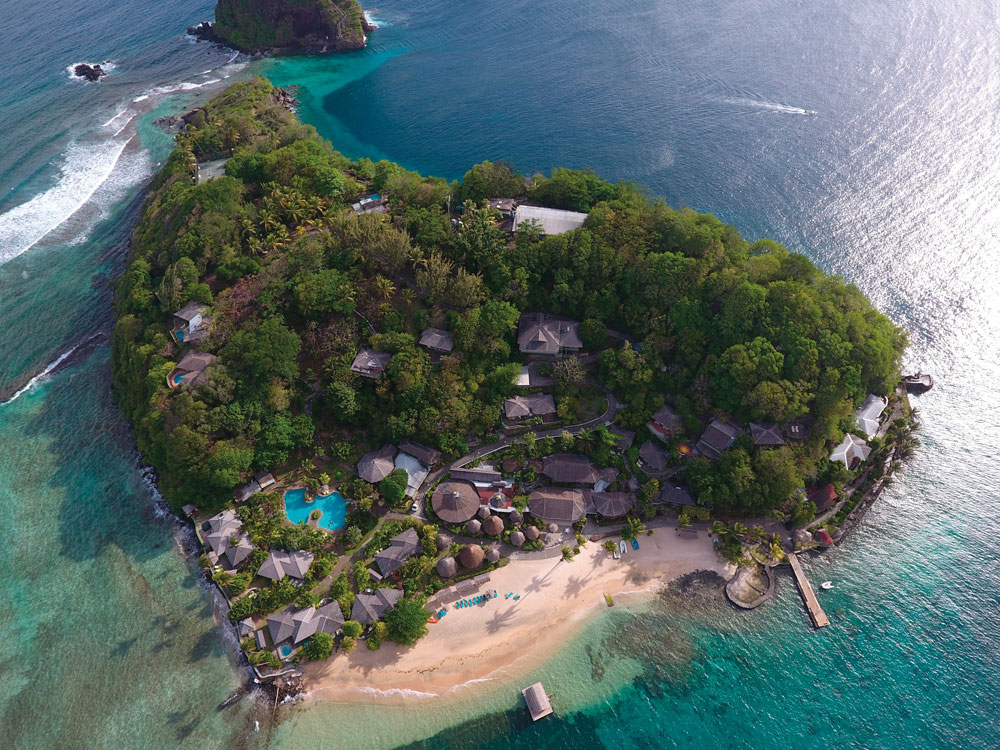 "Young Island in Villa Bay is where you can practise ""castaway chic"". Photo by Milan Portfolio/Shutterstock.com"