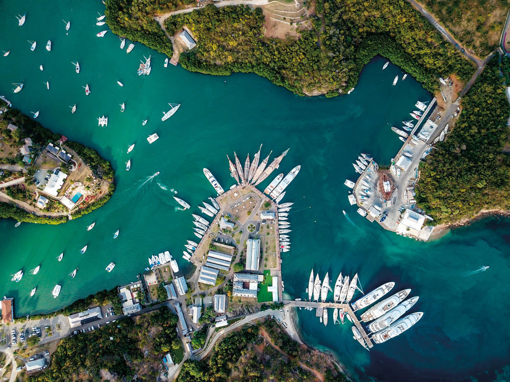 Antigua's Nelson's Dockyard, a haven for sailing ships for centuries. Photo by DBimages/Alamy Stock Photo