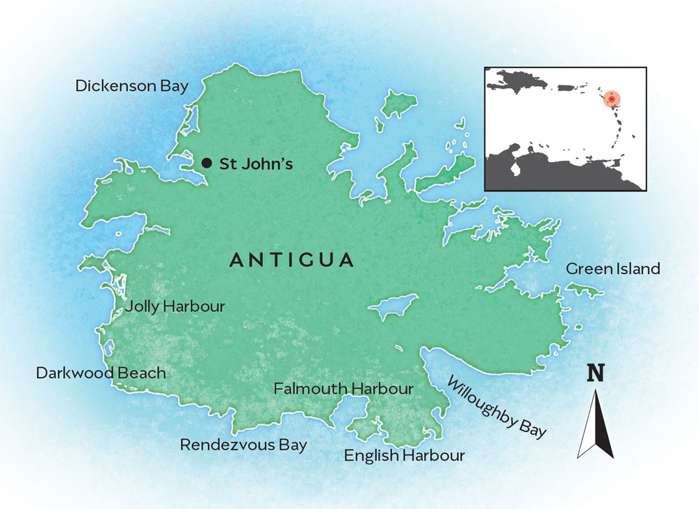 Antigua map
