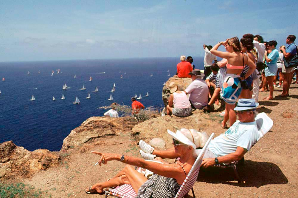 Fans take in the action at one of Antigua's famous regattas. Photo by Allan Aflak
