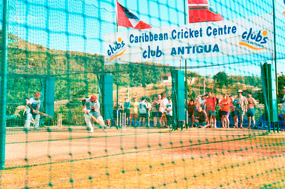 West Indies team at the Caribbean Cricket Centre, Club Antigua. Photo by Colin Cumberbatch