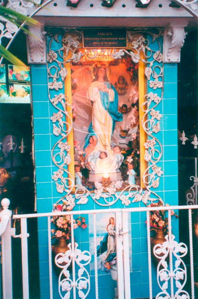 Shrine to Nicaragua's patron saint. Photograph by Simon Lee