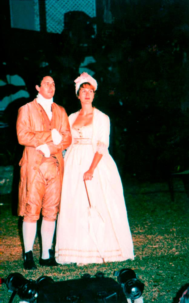 Period costumes in Yarico: the musical. Photograph by Corrie Scott/ Holders Season