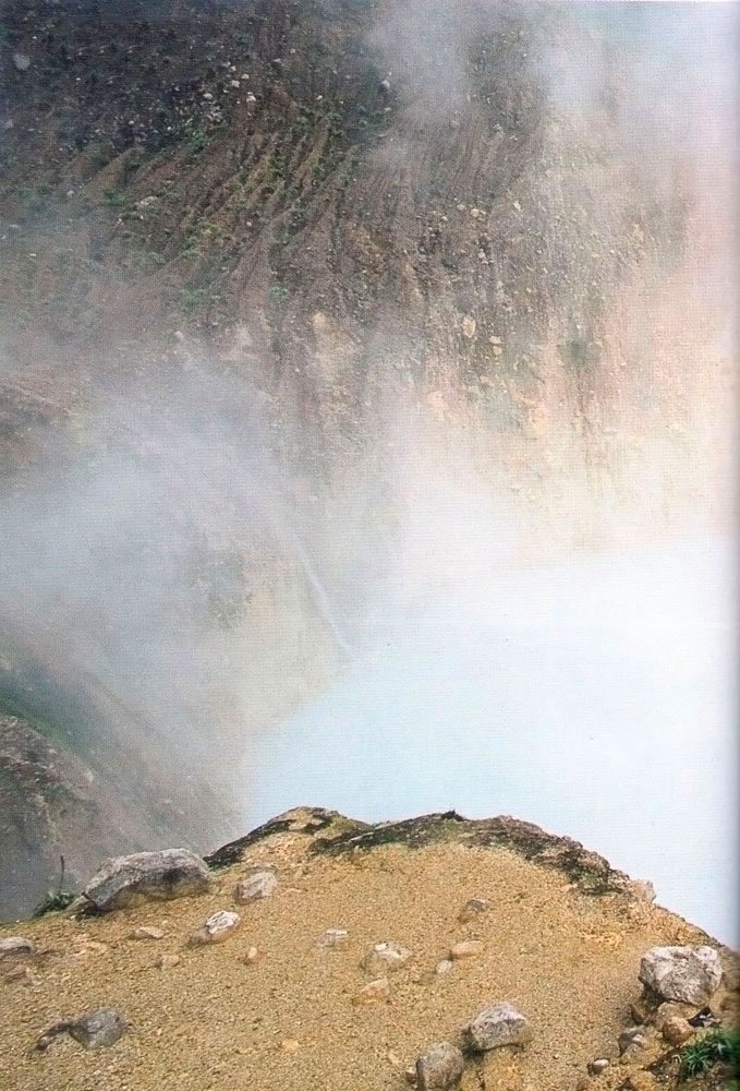 The Boiling Lake. Photograph by Roberta Parkin