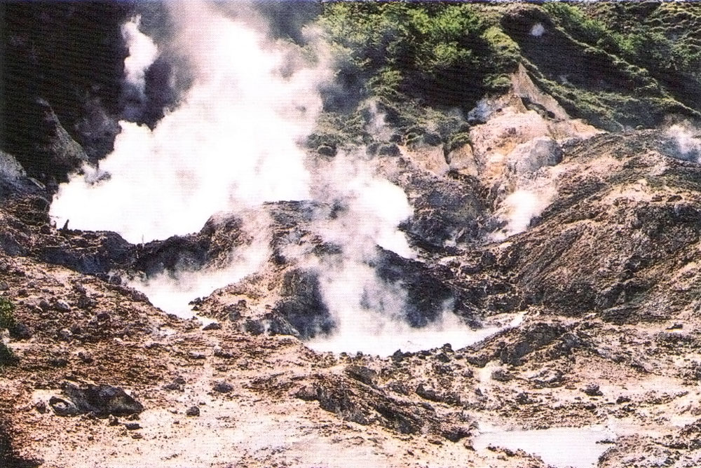 St Lucia's sulphur springs. Photograph courtesy the Seismic Research Unit/ University of the West Indies