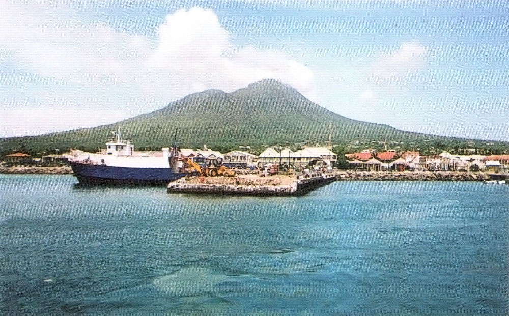 The entire island of Nevis is single volcano, with Nevis Peak as its summit. Photograph courtesy the Seismic Research Unit/ University of the West Indies