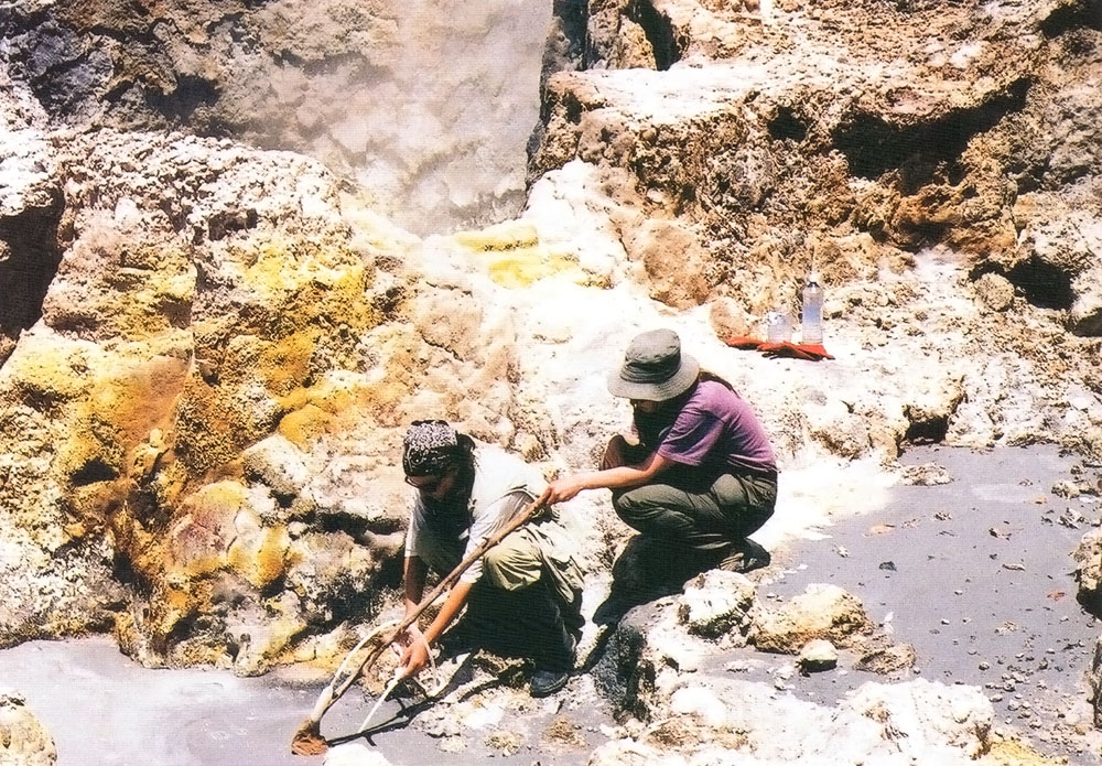 Scientists from UWI Seismic Research Unit in the field. Photograph courtesy the Seismic Research Unit/ University of the West Indies