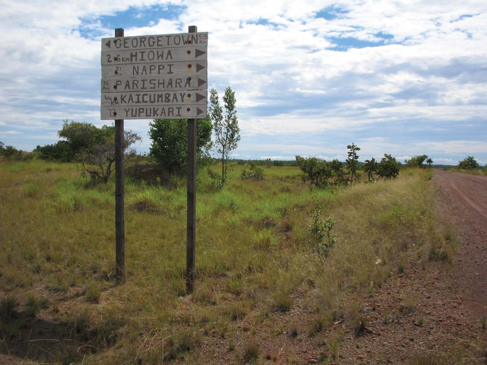 On the road from Lethem to Nappi. Photo by Nicholas Laughlin