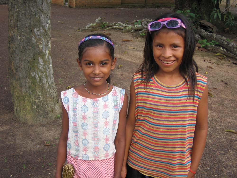 Two young girls from Yupukarri, near the Karanambo ranch. Photo by Nicholas Laughlin