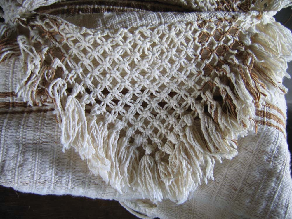 The elaborate fringes of a Wapishana hammock. Photo by Leon Wainwright