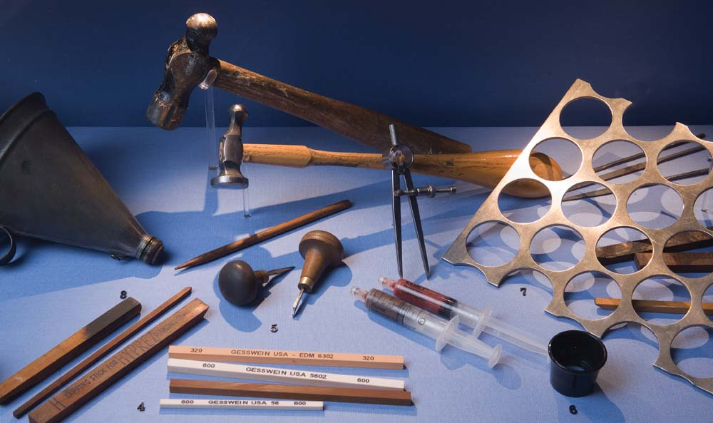 Tools of the minting trade. Photo by Mark Lyndersay