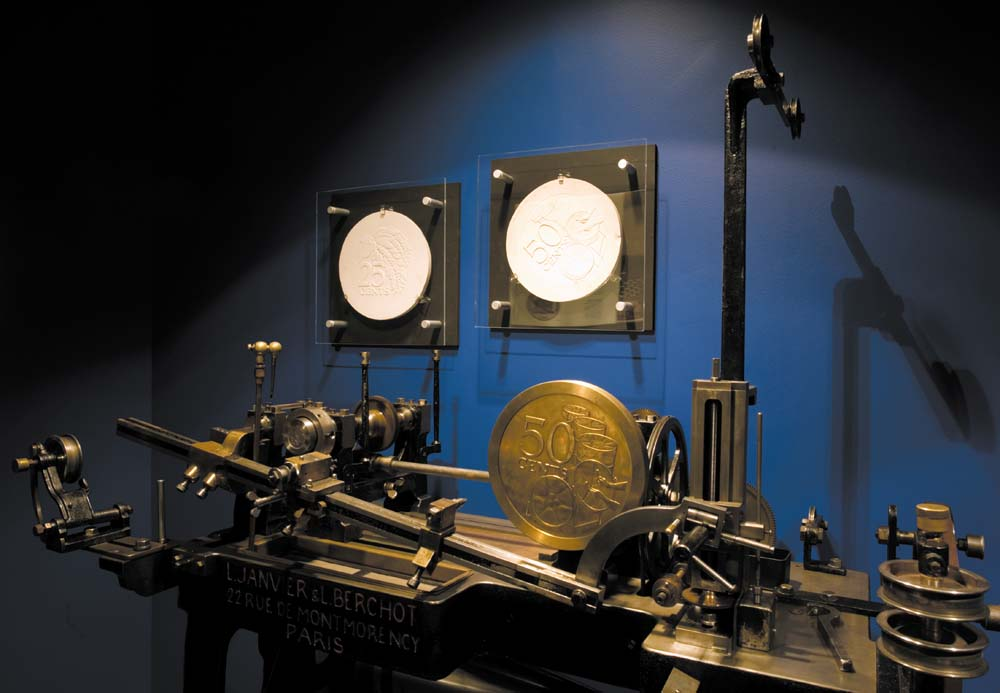 A reducing machine, once used to transfer the design of a coin from a large model to an actual-size punch. Photo by Mark Lyndersay