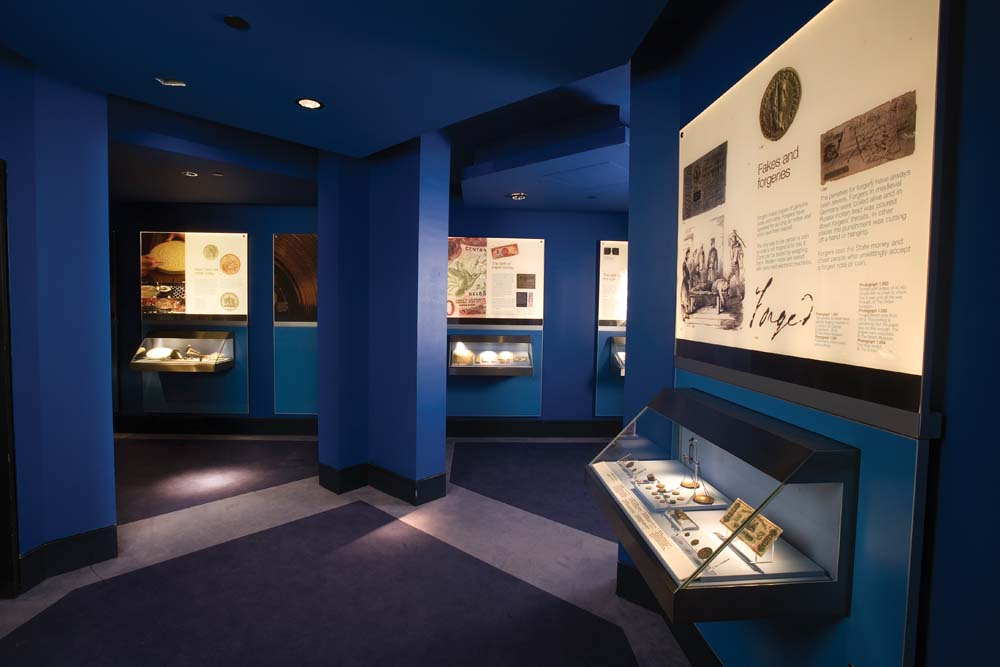 The museum also covers the history of the Central Bank itself. Photo by Mark Lyndersay