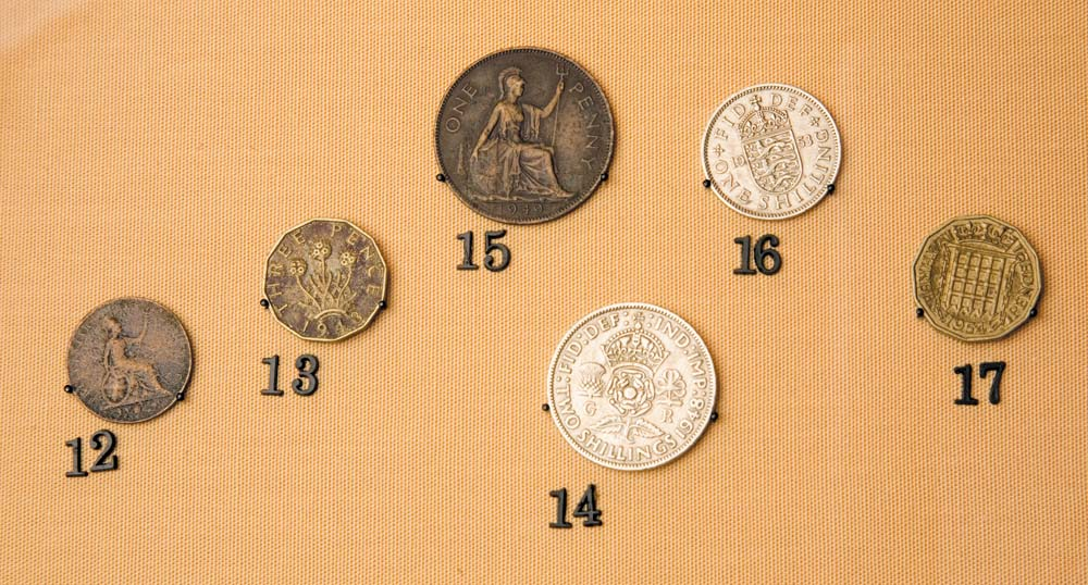 Examples of the British coinage that was legal tender in Trinidad and Tobago before Independence. Photo by Mark Lyndersay
