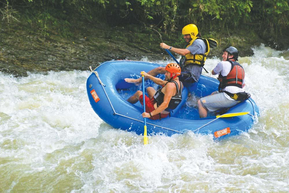 Whitewater rafting in Costa Rica. Photo by Skene Howie and Jule Guaglardi