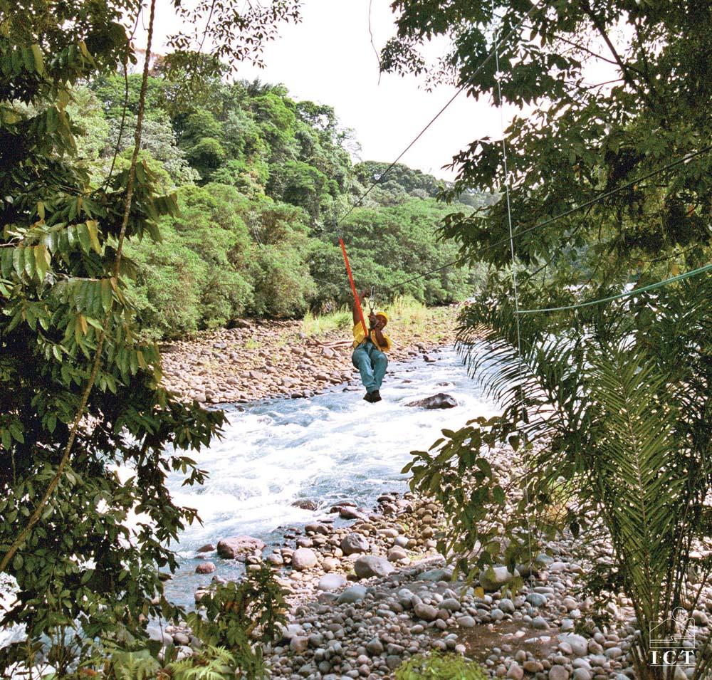 Rapelling through the tree canopy in Costa Rica. Photo courtesy The Instituto Costarricense De Turismo