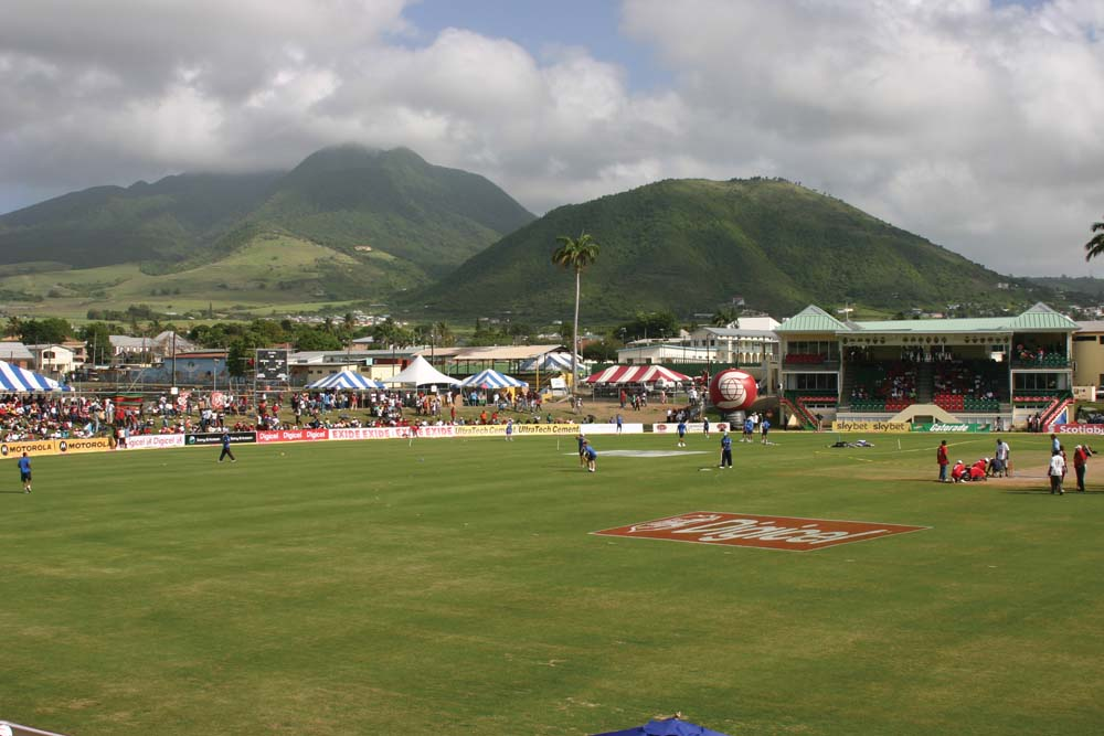 The first international cricket match ever played in St Kitts at the new Warner Park ground, 24 May, 2006. Photo by Michael Head