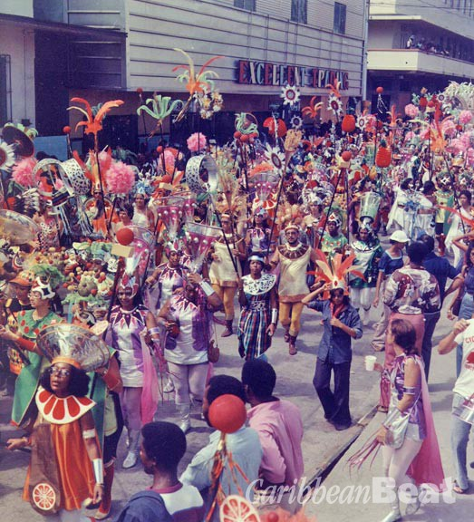 A La Carte (1975) parading through downtown Port of Spain. Photograph by Noel Norton