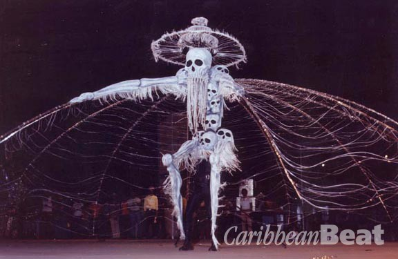 Peter Samuel portraying the Midnight Robber from Danse Macabre (1980). Photograph by Noel Norton