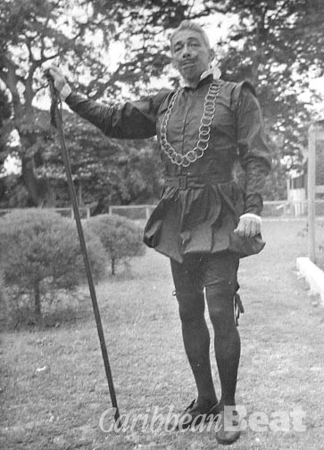 Collymore in the role of Mavolio, from the Twelfth Night