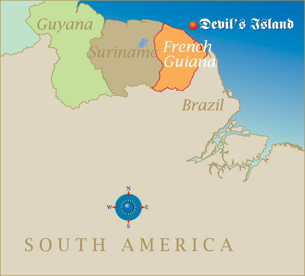 Devil's Island location