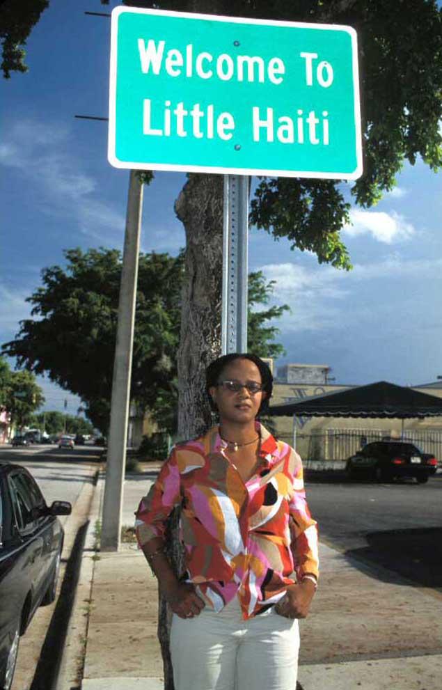 Edwidge Danicat spending a quiet day in Miami's Little Haiti