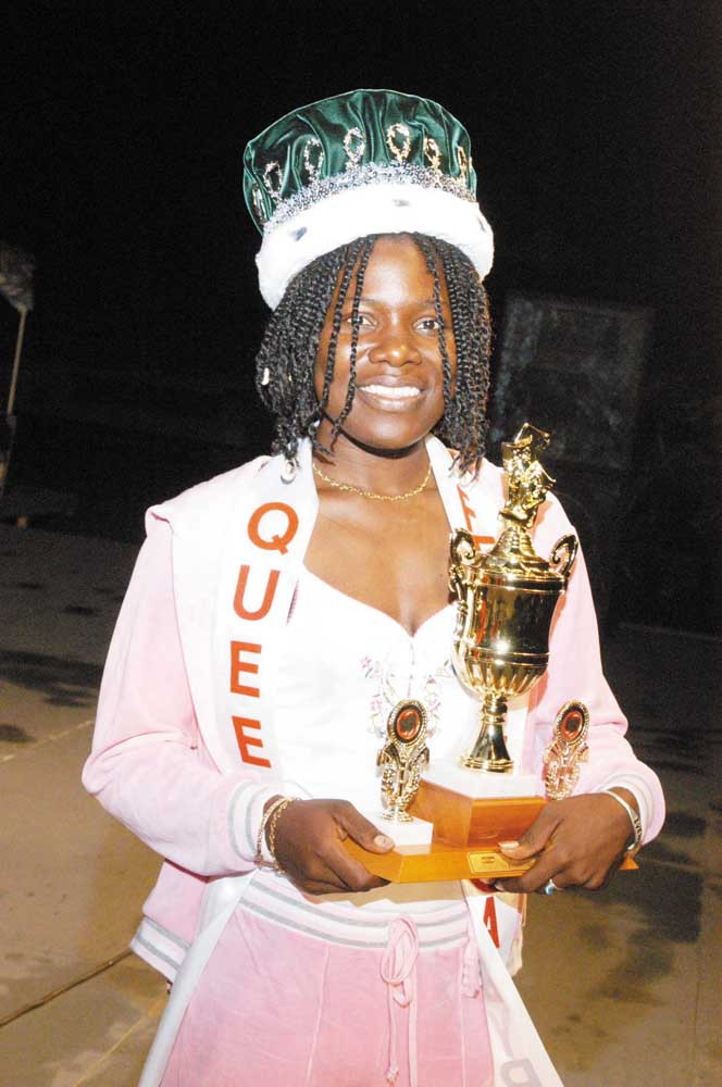 Queen Ivena. Photograph courtesy The Daily Observer