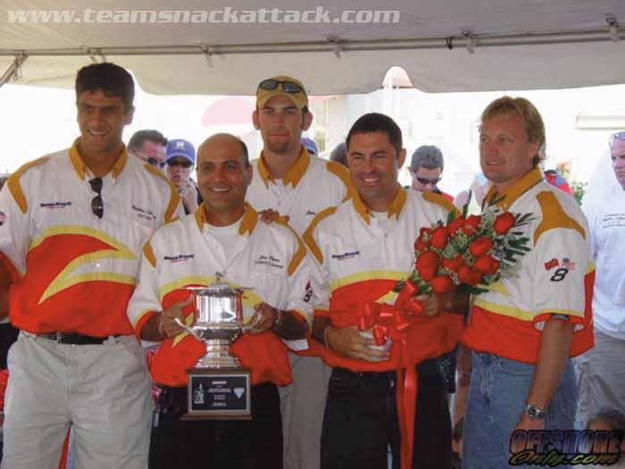 Team Snack Attack, with Nicholas Lok Jack and Joe Pires at far left. Photograph courtesy Teamsnackattack.com