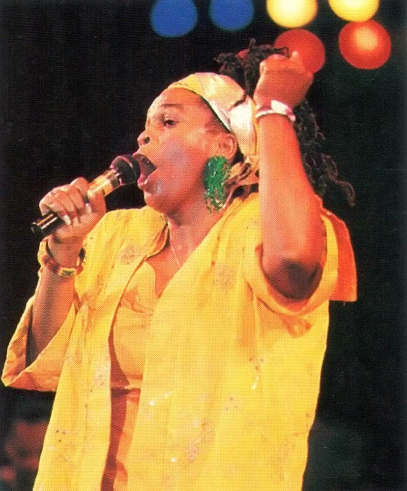 Power: singer Judy Mowatt in full voice. Photograph by Dreamy Riley