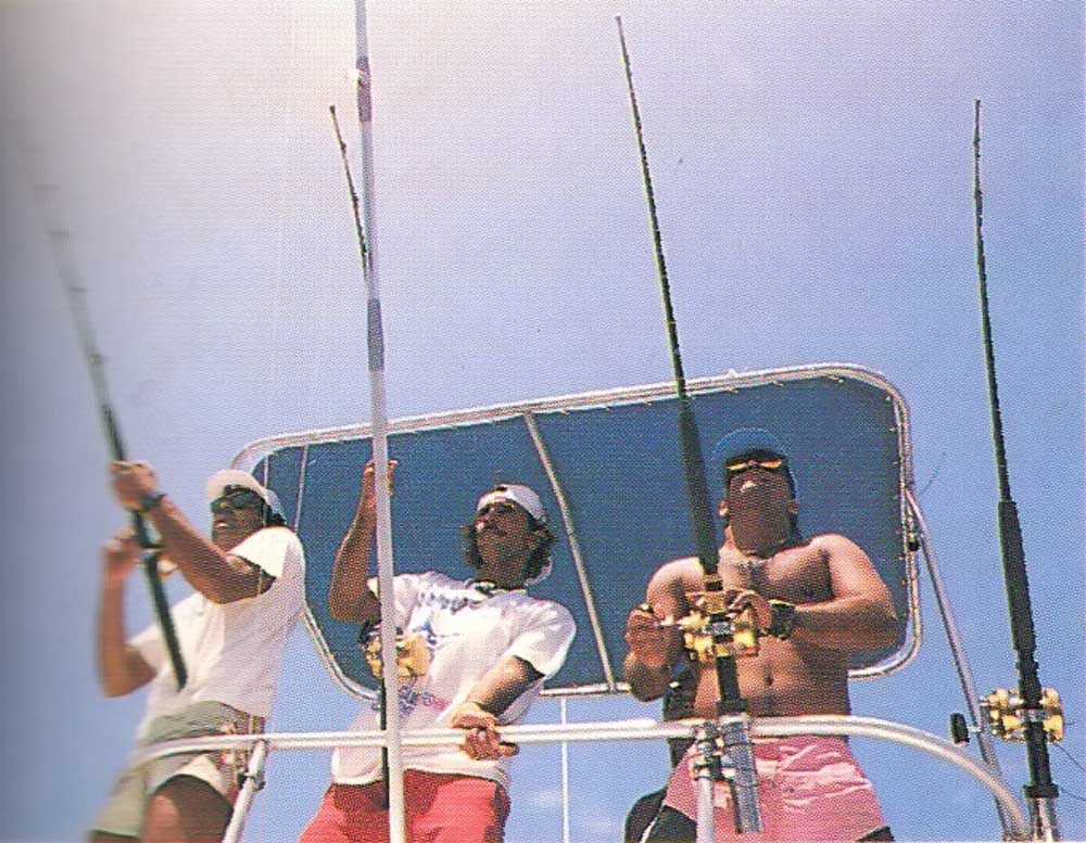Watchful anglers in the Carib International Game Fishing Tournament in Tobago. Photograph by Abigail Hadeed