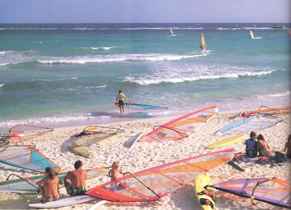 Silver Rock beach, centre for Barbados windsurfers. Photograph by Roxan Kinas