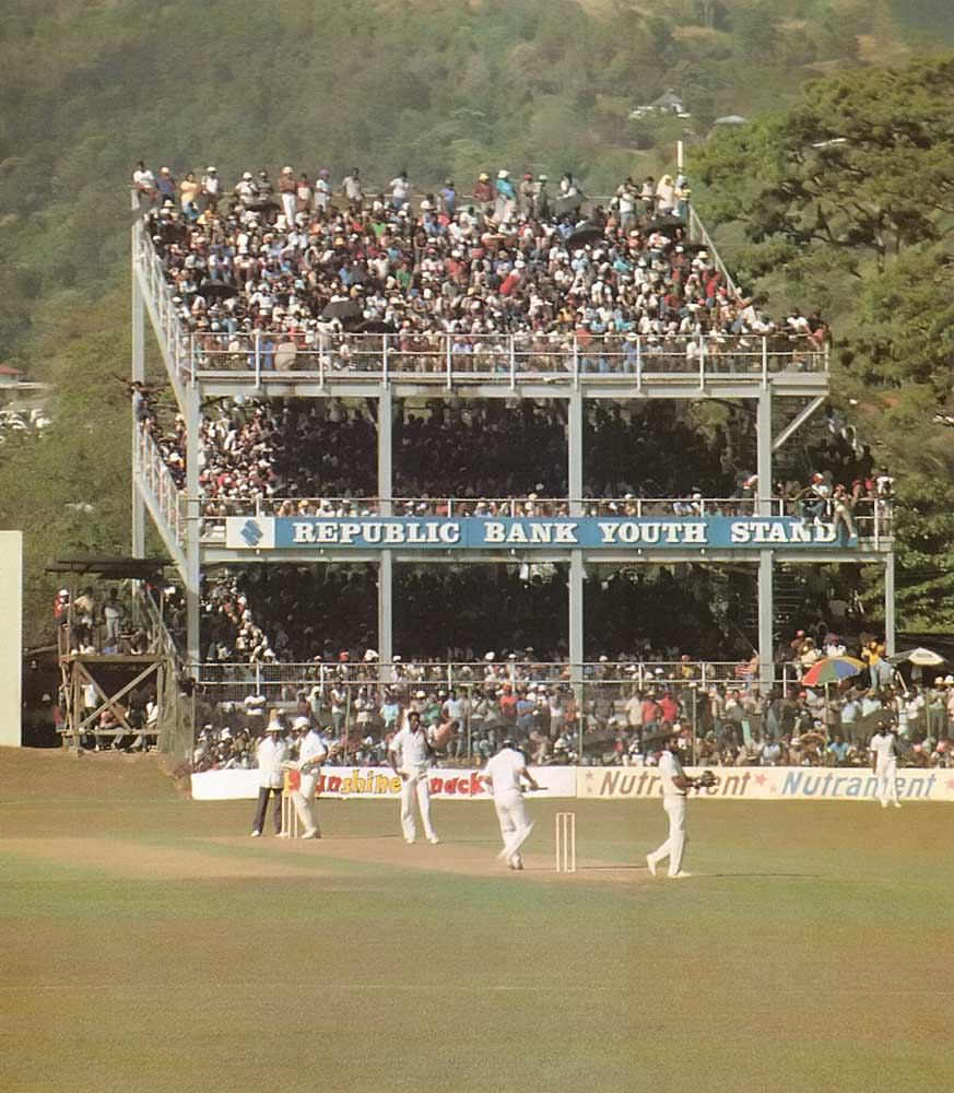 Cricket at the Queen's Park Oval in Trinidad. Photograph by Stephen Thorpe