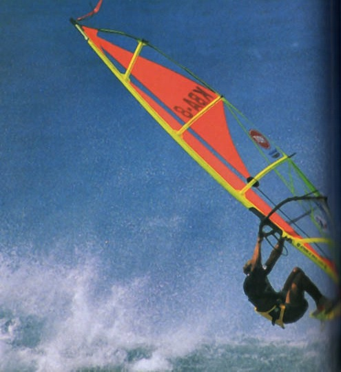 Brian Talma competing in Hawaii. Photograph by Peter Sterling