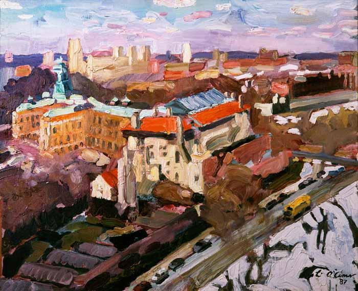 Painting by Mark Lyndersay