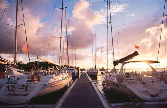 Yachts at the Sunsail Marina, St. Vincent. Photograph by Mike Toy