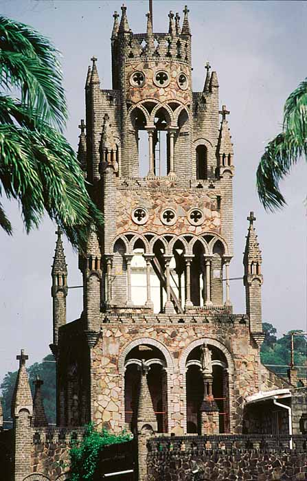 St Mary's Roman Catholic Cathedral in Kingstown combines Flemish, Moorish, Byzantine, and Romanesque influences.  Photograph by Mike Toy