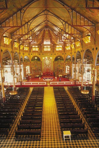 The interior of the Church of Immaculate Conception in Castries. Photograph by Chris Huxley