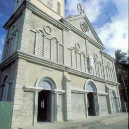 Church at Anse la Raye. Photograph by Mike Toy