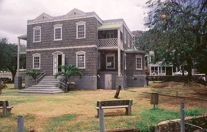 The old Public Library on Halifax Street, Kingstown. Photograph by Roberta Parkin