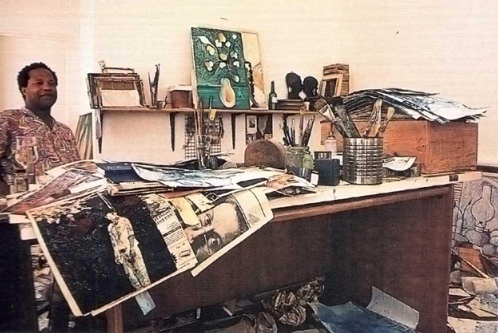 Xavier's studio. Photograph by Chris Huxley