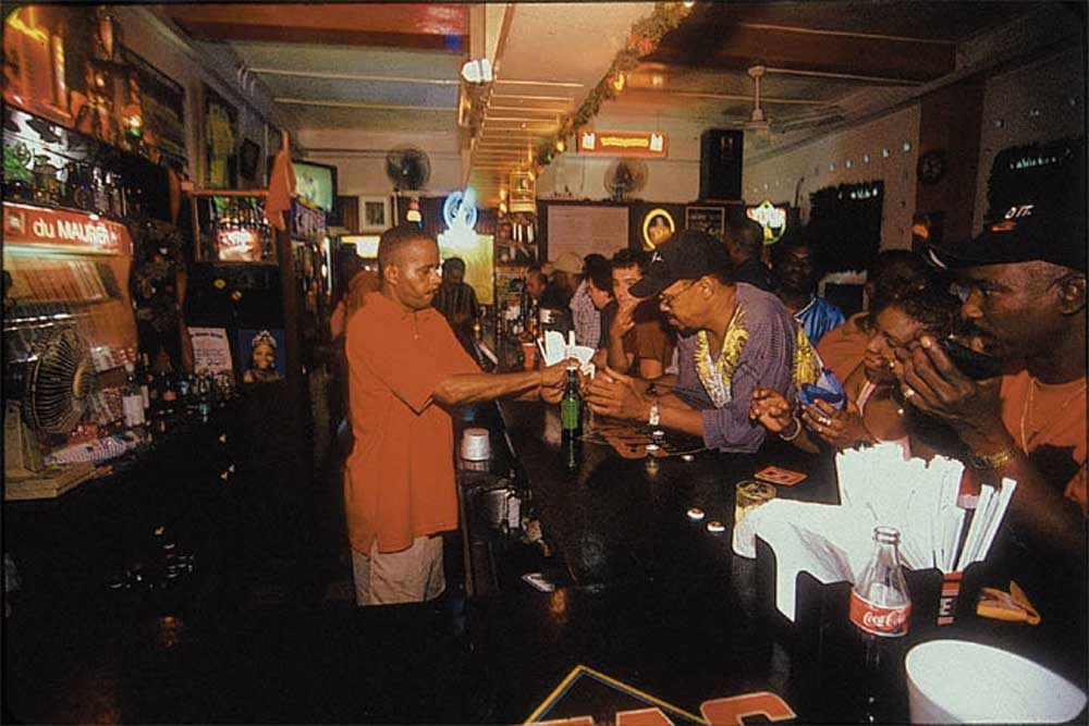 The legendary Smokey & Bunty's is the first place to look for action- and on Carnival weekend this is where all roads end. Photograph by Sean Drakes/ Blue Mango